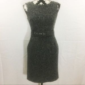 Banana Republic Black n Gray Woven Dress with Belt